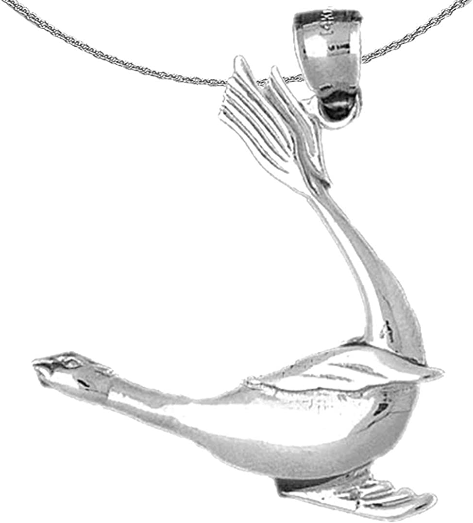 Jewels Obsession Silver Seal Necklace 925 Rhodium-plated Silve Ranking TOP3 Bargain