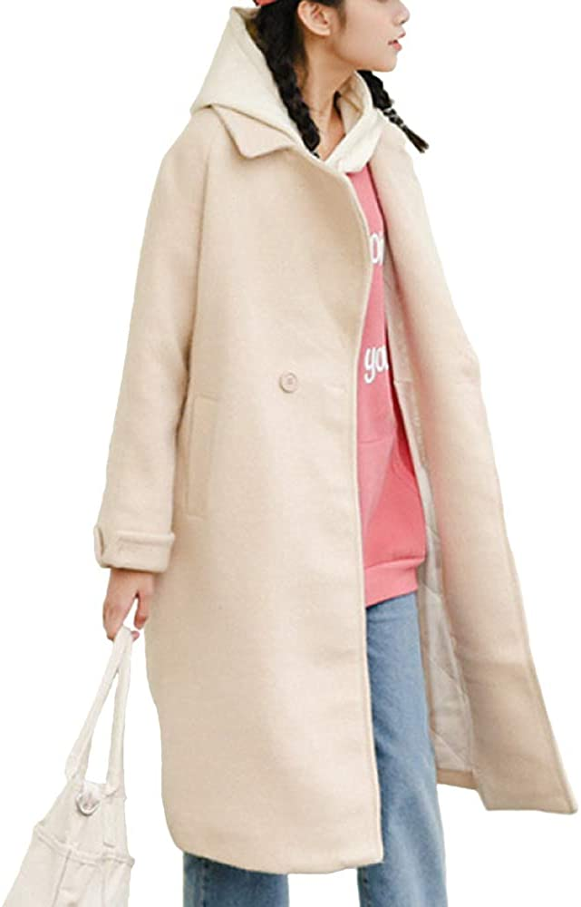 LIULIFE Winter Loose Outerwear shipfree Solid Jacket Our shop OFFers the best service Color Ov Windbreaker