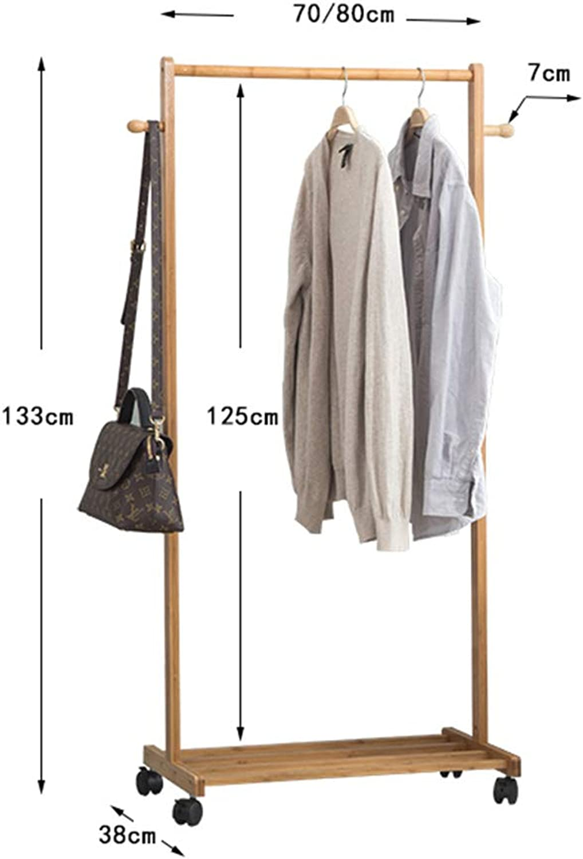 DQMSB Coat Rack Hanger Bamboo Bamboo Floor Racks Bedroom Living Room Simple Modern Clothes Rack Coat Racks (Size   70CM)