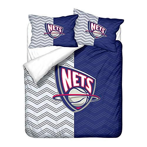 AINYD 3D Drucken Qualitativ NBA Basketball Club Team Logo Mikrofaser Bettbezuge Für Erwachsene Und Kinder Weiches Kopfkissenbezug(135x200cm), Bettbezug Mit Reißverschluss, Atmungsaktiv Kissenbezug