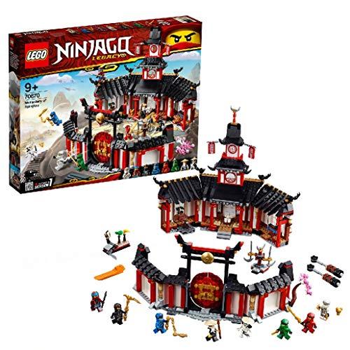LEGO 70670 NINJAGO Monastery of Spinjitzu, Building Set with Ninja Collectible Minifigures