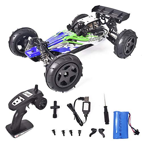 xSuper RC 40KM/H RTR Racing Off-road Car 1:12 con motor de alta velocidad, luz 2.4G recargable cochecito eléctrico para todo terreno - versión verde