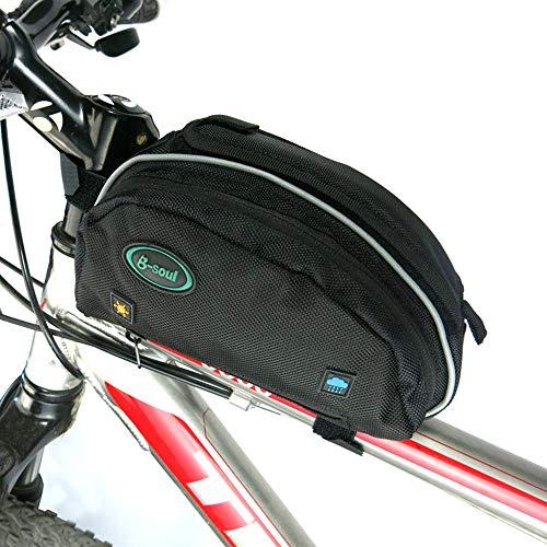 Pannier bolso de la bicicleta multifunción posterior de la bicicleta de la bici bolsa bolsa cuadro de la bicicleta a prueba de agua delantero del bolso del tubo del frente del bolso del tubo Con El Ca