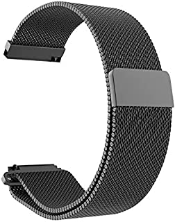 شريط ساعة مغناطيسي من الفولاذ المقاوم للصدأ بحلقة ميلانيز 20 مللي متر لشاومي اماز فيت يوث بيب - سوار ساعة ذكية