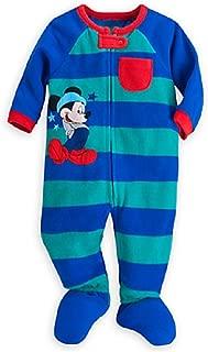 Disney Store Mickey Mouse Stars & Stripes Blanket Sleeper Pajamas for Baby, Blue