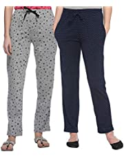 SHAUN 69GAL Women's Cotton Trackpant (Pack of 2)