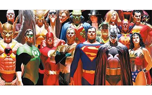 SD toys Cristal Justice League Glass Poster DC Universe Official Merchandising Adornos Muebles Pegatinas Decoración del hogar, Multicolor (Multicolor), única