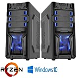 Gaming PC Desktop Custom System AMD Ryzen 5 2400G 3.9 GHz 240 GB SSD Gaming LED Tower Windows 10 HDMI