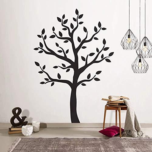 Árbol de etiqueta de la pared de madera negro árbol de Navidad decoración de la pared