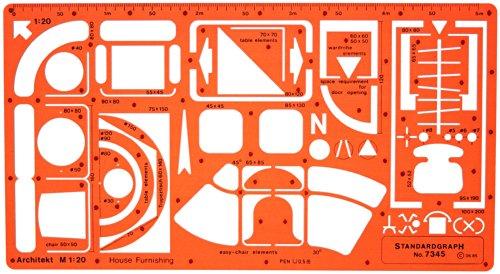 1:20 Architekt Schablone Zeichenschablone Möblierung - Innenarchitektur Technisches Zeichnen
