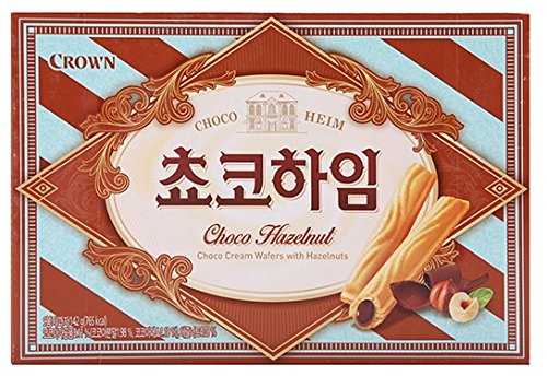 Crown Cream Filled Wafer Cookies with Hazelnut 142g (Choco, 1 Pack)