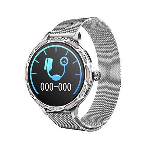 ZGNB M9 - Pulsera inteligente para mujer, IP68, resistente al agua, con accesorios, monitor de frecuencia cardíaca, rastreador de fitness, apto para Android iOS, A