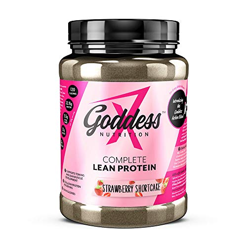 Goddess Nutrition - Complete Lean Protein Shake for Women - Post Workout - Muscle Recovery - High in Protein | Low in Calories - Supports Active Lifestyles | Strawberry Shortcake Flavour | 480g