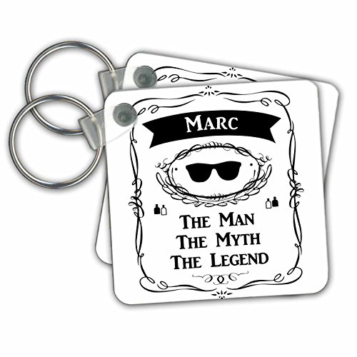 3dRose Marc The Man The Myth The Legend Personal Name Personalized Gift Keyring, 6 cm, Varies