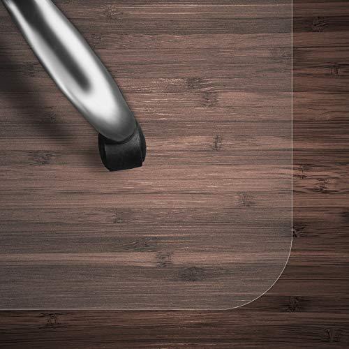 Bodenschutzmatte Transparent für Hartboden | Schreibtischstuhl Unterlage für Büro und Wohnen | Bodenmatten wahlweise für Teppich/Hartböden (Hartboden 100x120 cm)