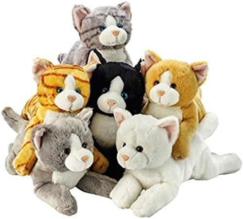 Lelly 34 cm Assorted Lying Cats Plush Toy by Lelly