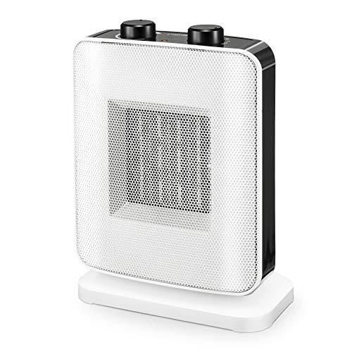 TROTEC Keramik-Heizlüfter TFC 15 E in kompaktem weiß/schwarz mit 2 Heizstufen bis zu 1.500 Watt