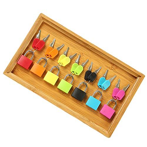 SM SunniMix Llave y Candado Coloreados de 7 Piezas en Bandeja de Madera para Montessori Toy Kids Provisión de Enseñanza Inicial