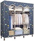 Kleiderschrank Schlafzimmer Tragbarer Kleiderorganisator Für Schrank Aufbewahrungsorganisator Waschbarer Schrank Kleiderkastenorganisator 130X46X170cm (Farbe : Grün) solid