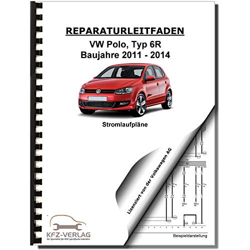 VW Polo 5 Typ 6R 2011-2014 Schaltplan Stromlaufplan Verkabelung Elektrik Pläne