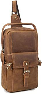 Sling Bag Chest Shoulder Backpack Crossbody Bags for Men Travel Outdoors Business (Color : Khaki, Size : M)