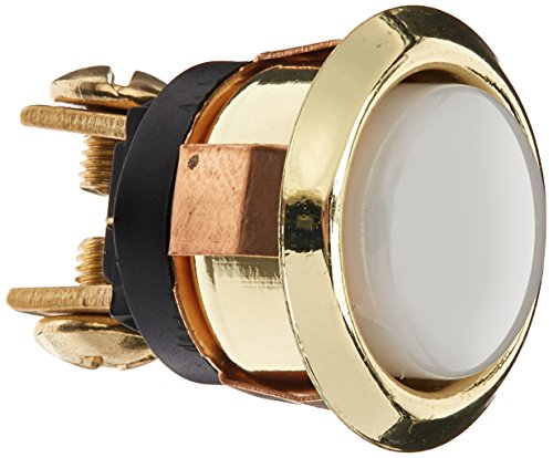 THOMAS & BETTS DH1202L 0 Lighted White, Round Chime Button with Gold Rim