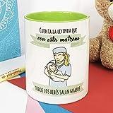 La mente es Maravillosa - Taza Frase y Dibujo Divertido (Cuenta la Leyenda Que con Esta matrona Todos los bebés salen guapos) Regalo para MATRONA