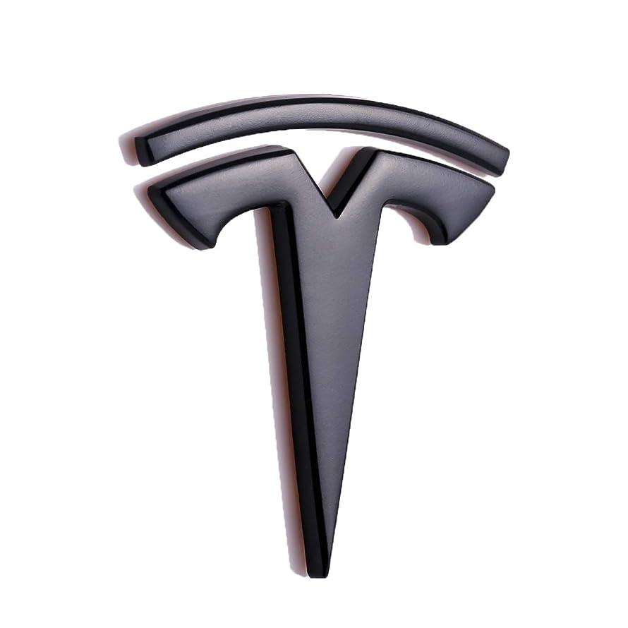TK-KLZ 3D Metal Car Side Fender Rear Trunk Emblem Sticker Badge Decals for Tesla Roadster Model S Model X Model 3 TESLASUV Decorative Accessories (Black)
