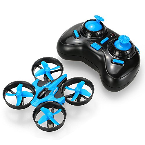 GoolRC Mini Drone with 3D Flips, Headless Mode, One Key Return, Full Protectors, H/L Speed, Anti Crush UFO RC Quadcopter (Blue)