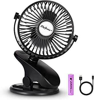 Ajoyeux Battery Operated Clip on Camping Fan