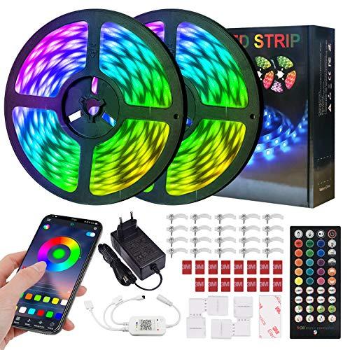 ERAY Tiras LED Bluetooth 20M, Luces LED RGB 5050 600...