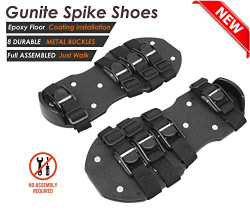 Osaava 47600 Gunite Spiked Shoes for Epoxy Floor Coating Installation 3/4-Inch Replacement Spikes Polypropylene Shoes, Adjustable 8 Durable Straps Metal Buckles Full Assembled Sturdy Universal Size