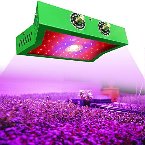 CarBole 11823.25 - Lámpara LED de espectro completo para colgar plantas, COB 2 ㎡ UV IR 1200 W para un crecimiento rápido mejor de plantas de interior, verduras y flores