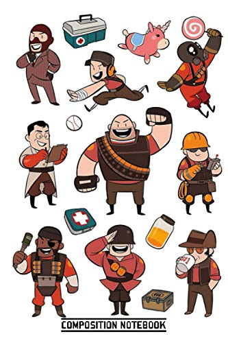 Team Fortress 2 Red All Class Notebook: (110 Pages, Lined, 6 x 9)