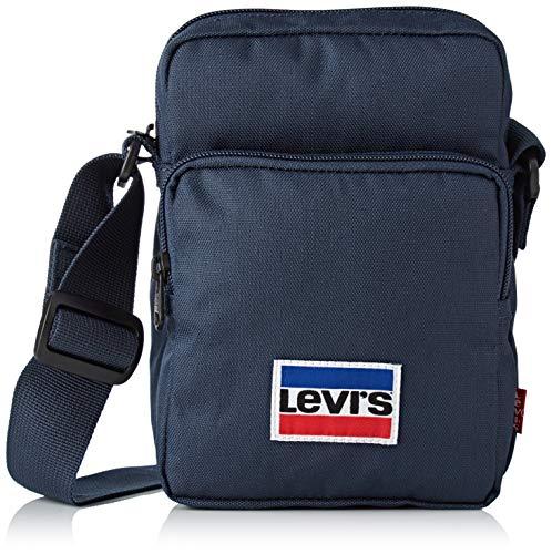 Levi's L Series Small Cross Body Sportswear, Herren Clutch, Blau (Navy Blue), 8x20x14 cm (W x H L)