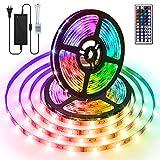 Tira de LED de 10m, AMBOTHER RGB Tira de luz LED con control remoto y adaptador de corriente IP67 DC 12V Lámpara de cadena LED Luz de humor resistente al agua para la fiesta de Navidad Deco Garden