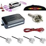 TKOOFN® Universal KFZ Radar Aparcamiento Sensor Alarma Acustica Indicador LUZ Kit LED Marcha Atras...
