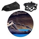 Wondsea 2 x Yoga-Bänder, Dehnungsgürtel, Fußgelenk, Korrektur-Bandagen mit Schlaufen, Fußtropfen, flexibler Gurt für Tänzer, Yoga-Zehen, Sportler, Physiotherapeuten