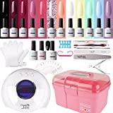 Gel Nail Polish Kit with 36W Lamp - Candy Lover 10ml Macaroon Colors with Base Top Coat Matte Top UV/LED Nail Gel Polish Set, Summer Autumn Nail Art Accessories Free Storage Box Starter Gift - Best Reviews Guide