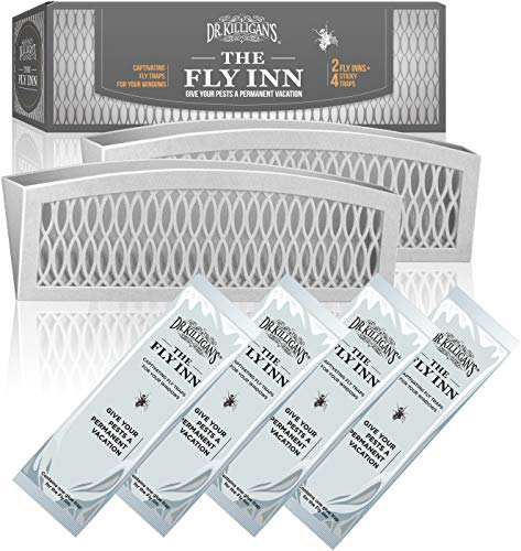 Dr Killigan#039s The Fly Inn | Window Fly Traps | Sticky Fly Strip | Indoor Insect Trap | Catches and Hides Bugs | Better Than Fly Paper or Ribbon | Get Rid of Fruit Flies | 24 Gray