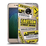 Head Case Designs Drôle Signes de conducteur étudiant Coque en Gel Doux Compatible avec Motorola...