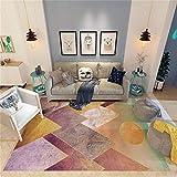 alfombras antiacaros Alfombra leonada del diseño del modelo geométrico, alfombra alfombras salon baratas de la mesa de centro del sofá del mantenimiento fácil que se arrastra del bebé-broncearse_El 1