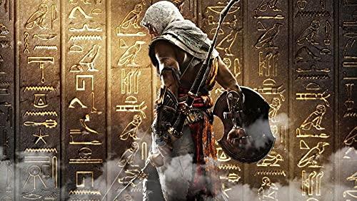 SHENQI-Pintura por Números- Póster Jeroglíficos De Assassins Creed Origins -DIY Pintar por Numeros para Adultos Niños, Pintura Al Óleo Kit con Pinceles Y Pinturas,Regalo De Pintura