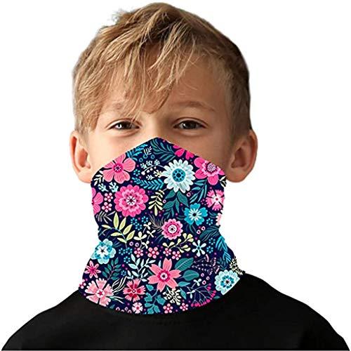 Kinder Schlauchschal Multifunktionstuch Mundschutz Halstuch Sommer Cartoon Bedrucke UV-Schutz Schlauchtuch für Mädchen Jungen