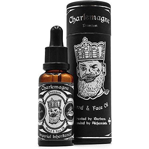Charlemagne Bartöl - TESTSIEGER - 100% Vegan Bartöl Vanille Tabak Duft - Bart Öl Made in Germany Bartöl Herren - natürliches Bartpflege Öl regt das Bart Wachstum an - Bartpflege Männer Beard Oil Vegan