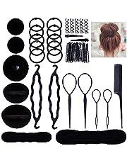 Lictin Haarkapselset haaraccessoires haarelastiekjes haarspelden clip-pads haarstyling gereedschap set haarstyling