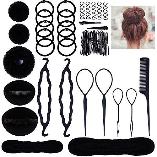Lictin Haare Frisuren Set Haarschmuck Haargummi Haarnadeln Clip-Pads Haar Styling Werkzeug Set Haar Styling