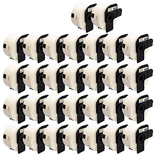 Yellow Yeti 30 Rollos DK-11208 38 x 90mm Etiquetas de dirección compatibles para Brother P-Touch QL-500 QL-570 QL-700 QL-710W QL-720NW QL-800 QL-810W QL-820NWB QL-1100 QL-1110NWB | 400 Etiquetas/Rollo