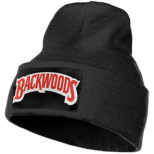 Hodenr Mens & Womens Backwoods Cigars JR Cigar Skull Beanie Hats Winter Knitted Caps Soft Warm Ski Hat Black