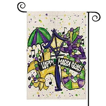 mardi gras garden flag